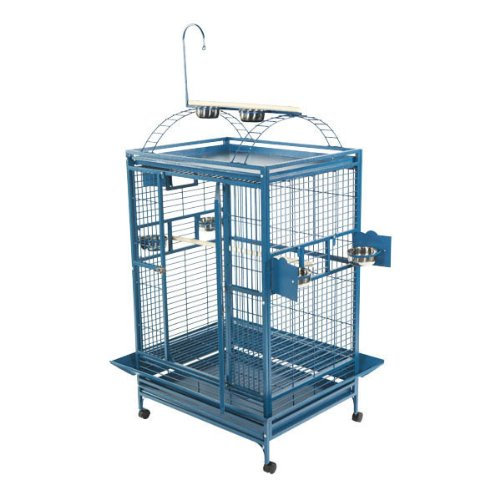 A&E Cage 8003628 White Play Top Bird Cage with 1'' Bar Spacing, 36'' x 28'' by A&E Cage