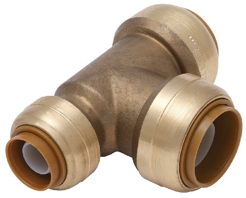 shark+bite Products : Cash Acme U444A Shark Bite 3/4-by-1/2-by-3/4-Inch Push-Fittings Reducing Tee