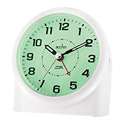 Acctim 14282 Central Smartlite Sweeper Alarm Clock, White