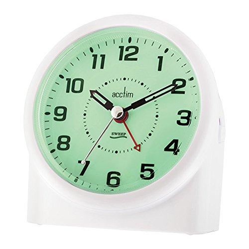 Acctim 14282 Central Smartlite Sweeper Alarm Clock, White