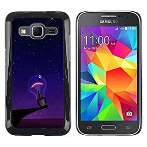 Smartphone Rígido Protección única Imagen Carcasa Funda Tapa Skin Case Para Samsung Galaxy Core Prime SM-G360 Funny Lonely Lightbulb / STRONG