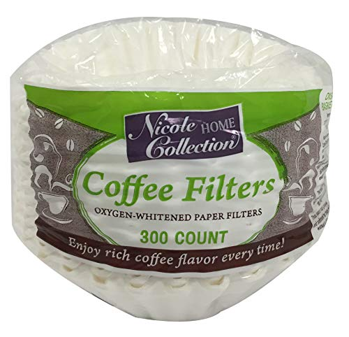 Nicole Home Collection 02083 Coffee Filters, 300 Count, White