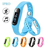 Activity Tracker for Kids,IPRO Water-Resistant Sports Pedometer Smart Bracelet Anti-lost Smartwatch IOS iphone Android Wristband Watch w/ Sleep Monitor+Music Control+Self-timer for Women/Men