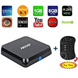 M8S Plus TV Box BestoU All APP Fully Loaded Quad Core Android 6.0 Smart Set Top Streaming Media Player with Mini Wireless Keyboard