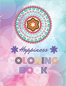 Amazon.com: Happiness Coloring Book: For girls, big mandala ...