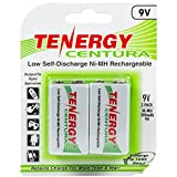 1 Card: Tenergy Centura NiMH 9V 200mAh Low Self Discharge Rechargeable Batteries