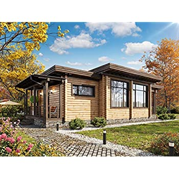 Amazon.com : ECOHOUSEMART | Laminated Log House Kit | Eco