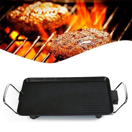zinnor 2-in-1 Electric Grill, Smokeless Indoor & Outdoor BBQ