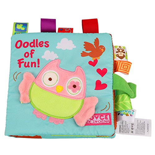 Soft Book Crinkle Cloth Book Baby Toy, Animal Puzzle Cloth Book Cloth Development Books. (Owl)