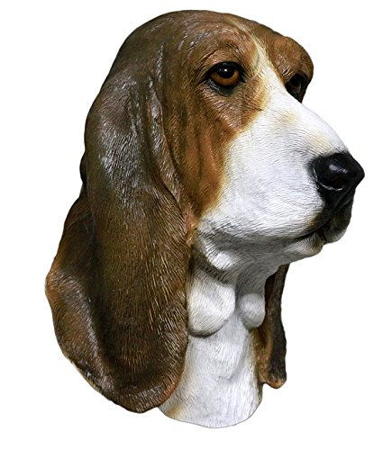 COMLZD® Basset Hound Masks Party Latex Animal Dog Head Costume Mask For (Is The Halloween Hound Real)