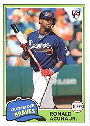 Image result for 2018 topps archives ronald acuna jr