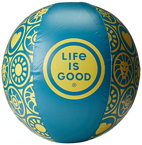 (Life is Good Beach Ball, Seaport Blue, One Size)