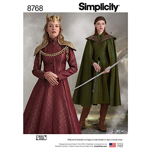 Simplicity Patterns US8768R5 Costumes, R5 (14-16-18-20-22) -