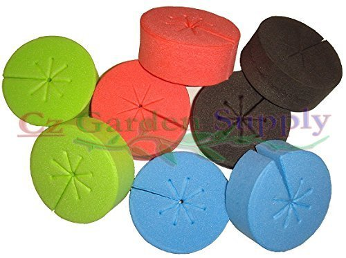 Ez Clone Neoprene Collars (Cloning Collars Net Pot Inserts • PREMIUM GRADE foam better than Neoprene fits 2 inch Net Cups/Pots Hydroponic DIY Cloners and Clone Machines by Cz Garden Supply)
