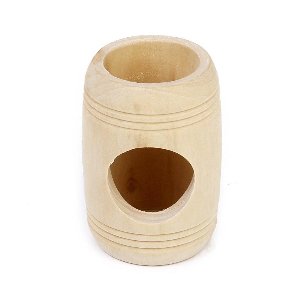eowder hámster pequeño barril juguete de madera para diseño de Play House
