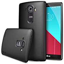 LG G4 Case - Ringke SLIM ***Top and Bottom Coverage*** [BLACK] Advanced Dual Coating Technology All Around Protection Hard Case for LG G4 - ECO Package