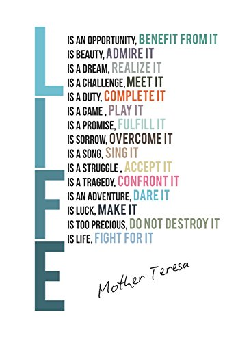 iCandy Combat Life Is Mother Teresa Colorful Print Quote ...