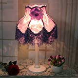 HAGDS The Latest Lace European Style Lamp Bedroom Bedside Dimming Wedding Wedding Luxury Retro Warm Decoration Bedside Lamp (Style : A)