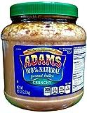 Adams 100% Natural CRUNCHY PEANUT BUTTER 80oz (6 Pack)