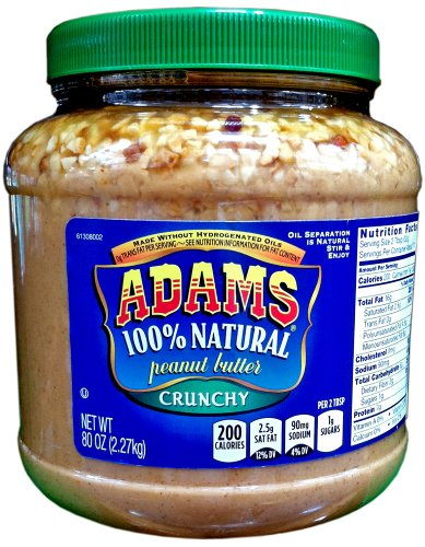 Adams Natural CRUNCHY PEANUT BUTTER product image