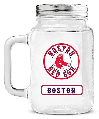 MLB Boston Red Sox Duckhouse 20 Ounce Mason Jar