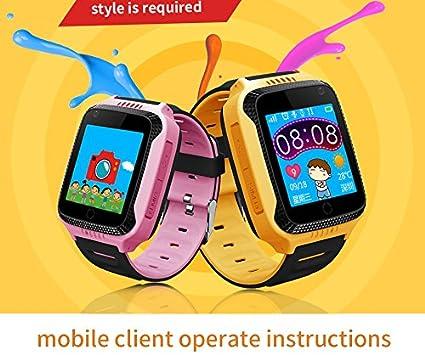 Smart reloj niños reloj teléfono celular inteligente muñeca reloj Q528 1,44 pantalla táctil Kids Reloj GPS con cámara de iluminación inteligente reloj ...