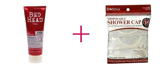 2 of TIGI Urban Anti+Dotes Bed Head Resurrection Conditioner AND Donna Shower Cap Clear - BUNDLE