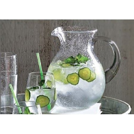 - Tag 650045 Bubble Glass Pitcher, 9 by 8-Inch, Clear