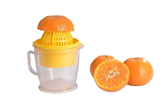 Vastrang Sarees Plastic 2 in 1 Orange Lemon Grape Tomato Juicer Citrus Squeezer (Assorted)