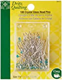 Dritz 3417 Crystal Glass Head Pins, 1-3/8-Inch