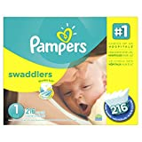 Pampers Swaddlers Diapers Size 1, 216 Count (Health and Beauty)