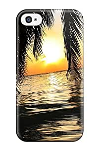 First-class Case Cover For Iphone 4/4s Dual Protection Cover Seascape Earth Nature Seascape wangjiang maoyi