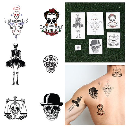 tattify dia de los muertos temporary tattoos to die for