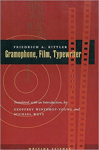 Book Gramophone, Film, Typewriter (Writing Science)