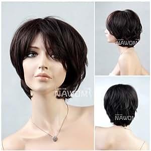 (WG-ZL02C-2/33)Short Straight Hair Wig,Black color