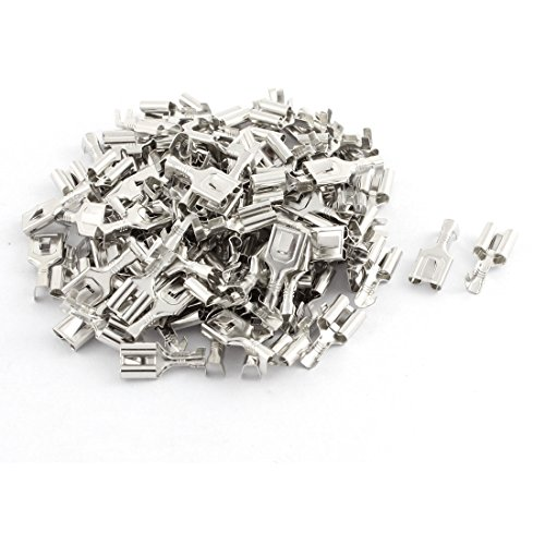 UXcell Female Spade Terminal Wire Connector Silver Tone 1...