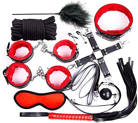Nimgoss 10pcs Nolverty Black+Red Exercise Sports Kit Strength Training Set