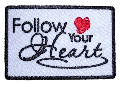Vest Leather Womens Icon (Leather Supreme Follow Your Heart Lady Rider Embroidered Biker Patch-White-Small)