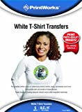 Printworks White T-Shirt Transfers, Inkjet, 8.5 x 11 Inch, 5 Sheets (00549)