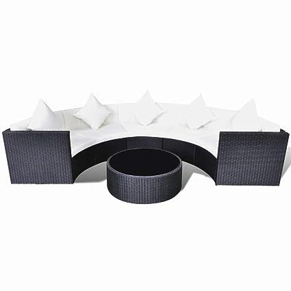 Surprising Amazon Com Bluecc Outdoor Sofa Table Set Poly Rattan Cjindustries Chair Design For Home Cjindustriesco
