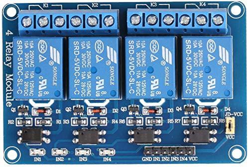4 Channel Relay Module DC 5V for Arduino Raspberry Pi DSP AVR