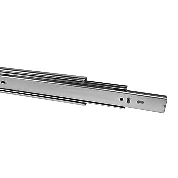 Guía telescópica para cajones (450 mm, con autocierre, 1 unidad)