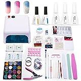 Azure Beauty Gel Nail Polish Starter Kit with UV Light, 36W UV Lamp Gel Polish Kit WSGP19
