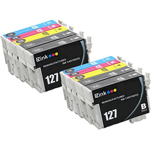 E-Z Ink (TM Remanufactured Ink Cartridge Replacement for Epson 127 Extra High Yield (4 Black, 2 Cyan, 2 Magenta, 2 Yellow) 10 Pack T127120 T127220 T127320 T127420