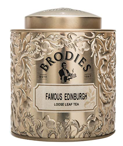 Brodies Famous Edinburgh Black Tea, Loose Leaf Tea Caddy Tin, 4.4 Ounce