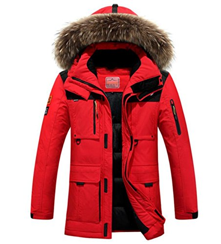 Section Red LINYI Outdoor Mountaineering Of Down Long Jacket Suits Warm The In Jacket Men's Leisure x6YrwqB6T