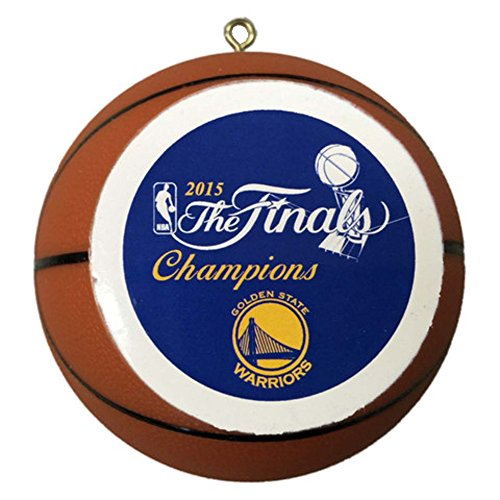 Golden Warriors Champions Basketball Ornament product image