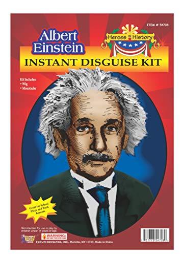 Little Einstein Costume (Forum Novelties Men's Heroes In History Albert Einstein Costume Wig and Mustache, White, One)