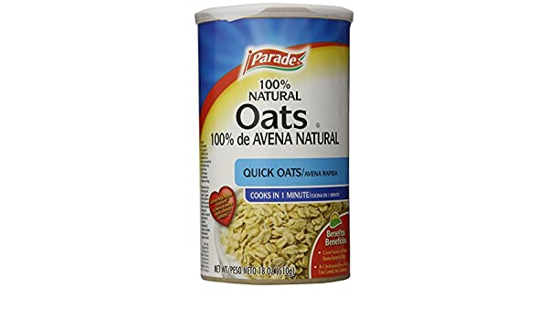 Parade Quick Oats, 18 Ounce (Pack of 12): Amazon.com ...