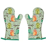 Now Designs Kitchen Style by Basic Oven Mitt, Set of Two, Owls
